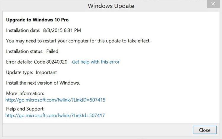 Repara los errores de actualizaciones en Windows 10