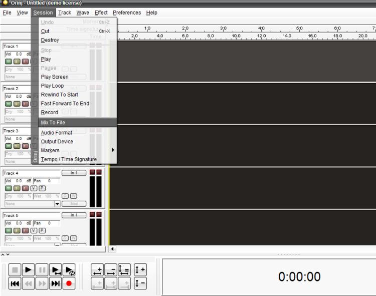 Orinj: Grabar y editar música en varias pistas