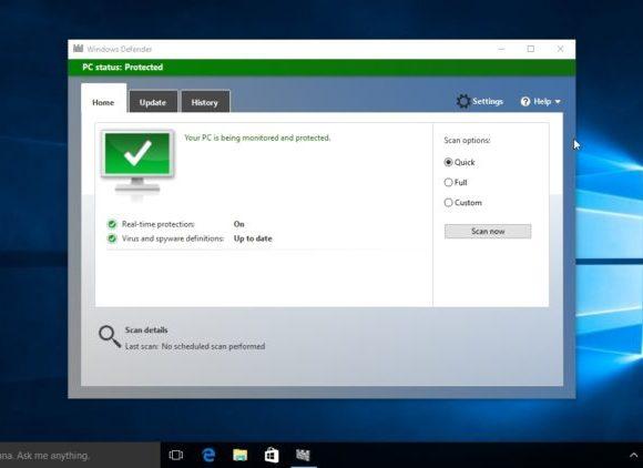 Ingeniero de Chrome también recomienda a Windows Defender, el antivirus de Microsoft