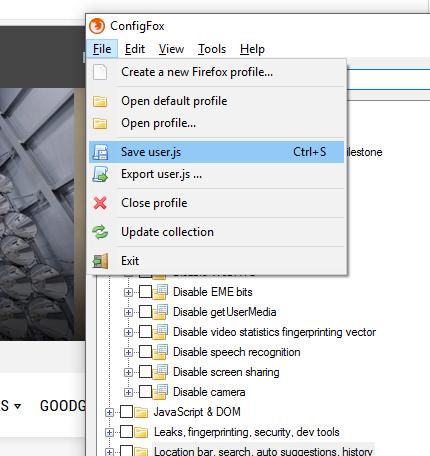ConfigFox: Programa para extender ajustes de Firefox