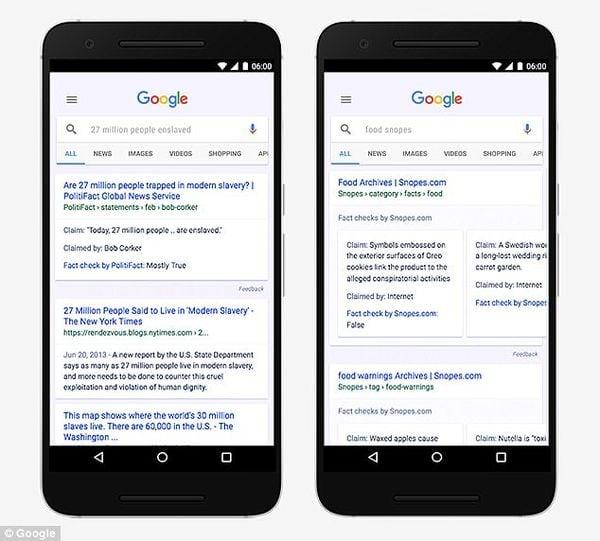 Google introduce una nueva etiqueta de comprobación de hechos para ayudar a filtrar 'noticias falsas'