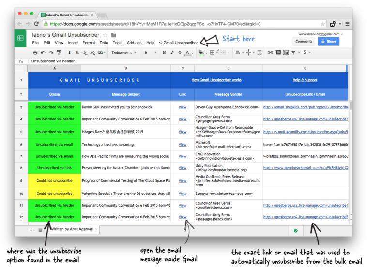 Cómo darte de baja de las listas de correo en Gmail