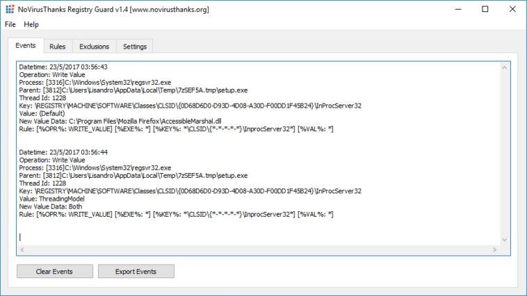 Protege el registro de Windows con NoVirusThanks Registry Guard