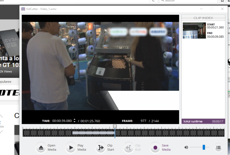 VidCutter: Cortar un vídeo en varios clip