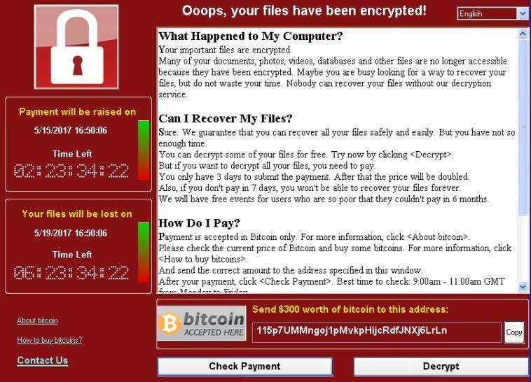 WannaCry: Según Kaspersky, el 98 por ciento de los ordenadores infectados usa Windows 7