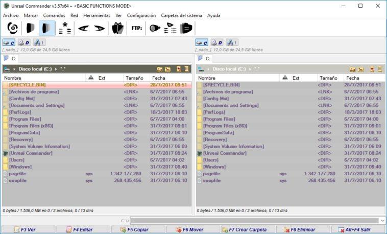 Unreal Commander: Clon del clásico Norton Commander para Windows