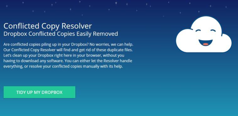Conflicted Copy Resolver: Libera espacio de tu Dropbox resolviendo conflictos