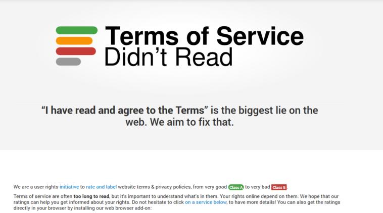 TOS Summaries: Resúmenes de los «Términos y condiciones» de los servicios más importantes
