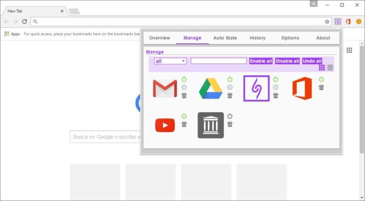 NooBoss: Administra tus extensiones en Google Chrome