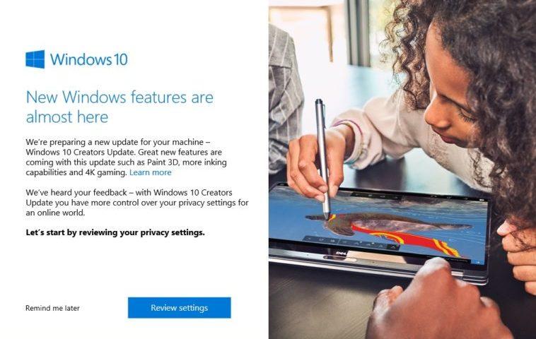 Microsoft recomienda no forzar la actualización de Windows 10 Creators Update