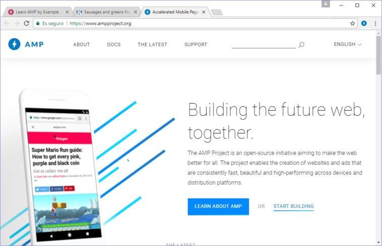 AMP Browser: Navegador de escritorio con soporte para Páginas Móviles Aceleradas
