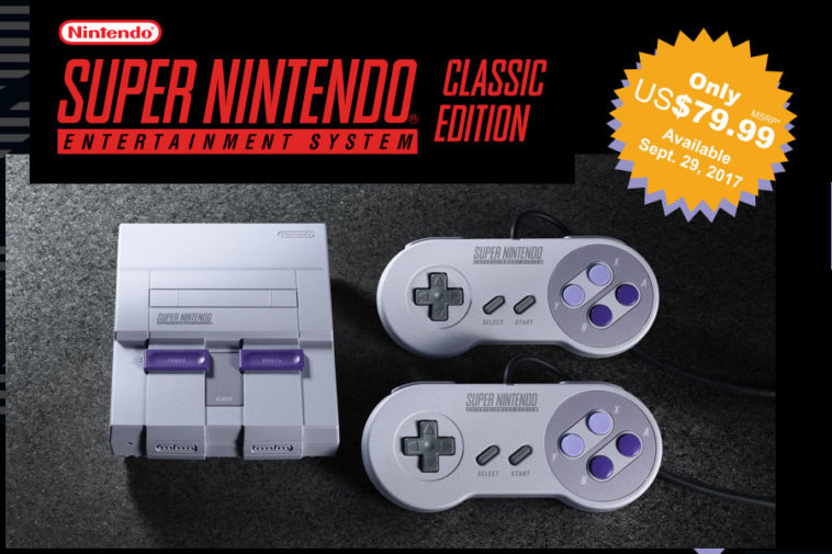 Nintendo confirma el lanzamiento de Super NES Classic Edition