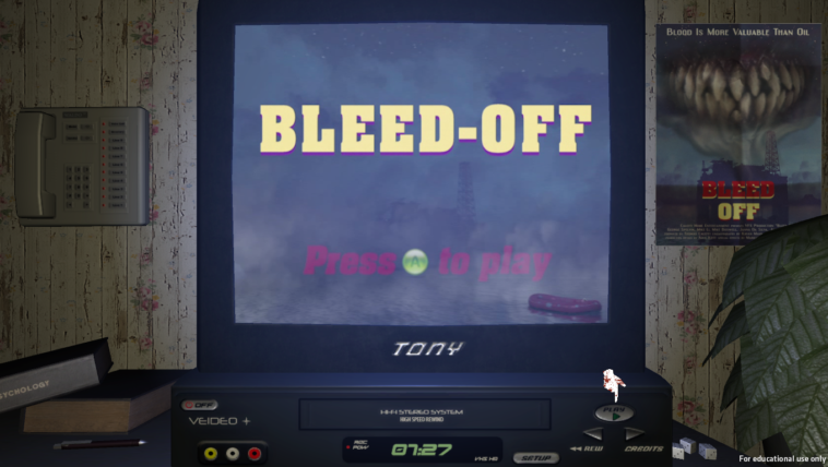 Bleed Off: Juego de terror homenaje a las películas en VHS