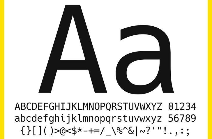 La tipografía perfecta para escribir código