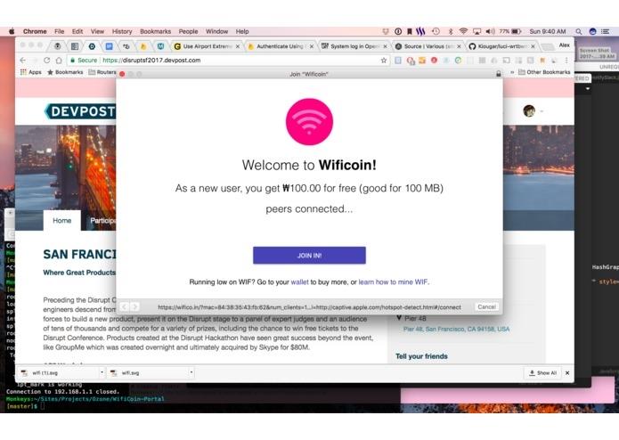 Wificoin: Nueva criptomoneda para comprar y vender acceso WiFi