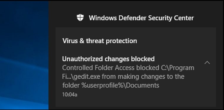 Acceso controlado a carpetas: Configura Windows Defender para proteger tus datos