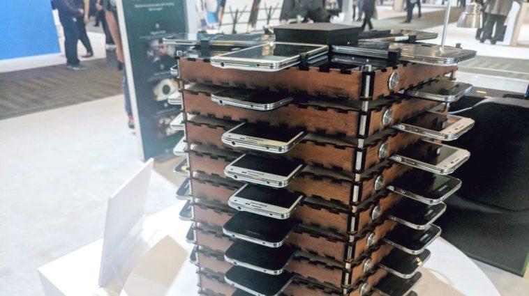 Galaxy Upcycling: Minando bitcoins con una torre de teléfonos Samsung Galaxy S5