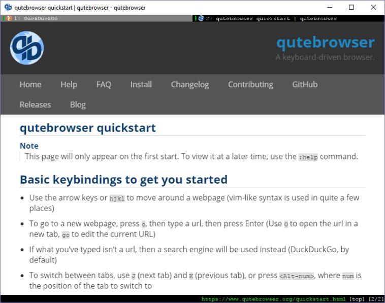 Qutebrowser: Un navegador pensado para el teclado