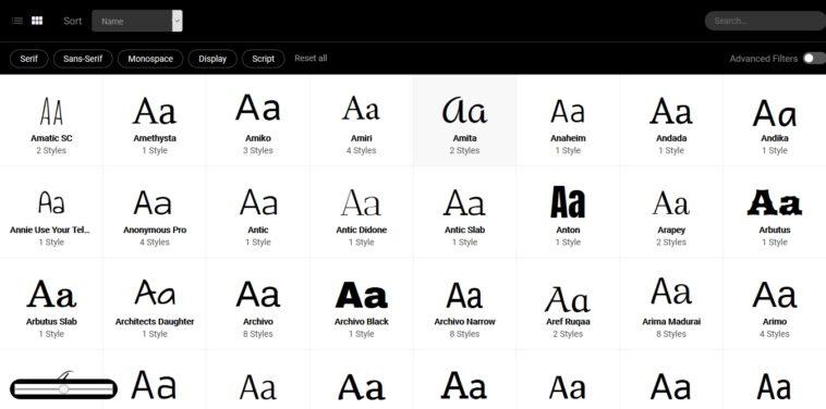 «The Anatomy of a Thousand Typefaces»: Una webapp para buscar tipografías