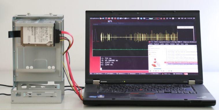 Tu disco duro se puede convertir en un micrófono