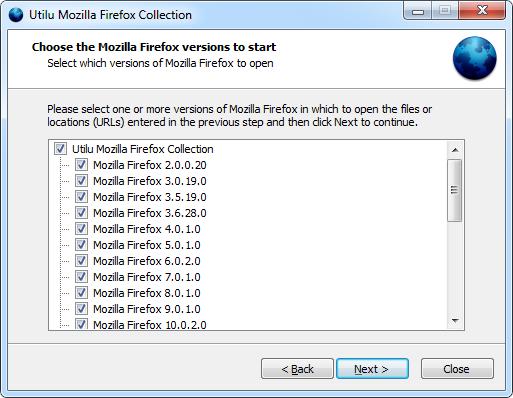 Utilu Firefox Collection: Descarga todas las versiones de Firefox desde 2.0.0.20 hasta la última