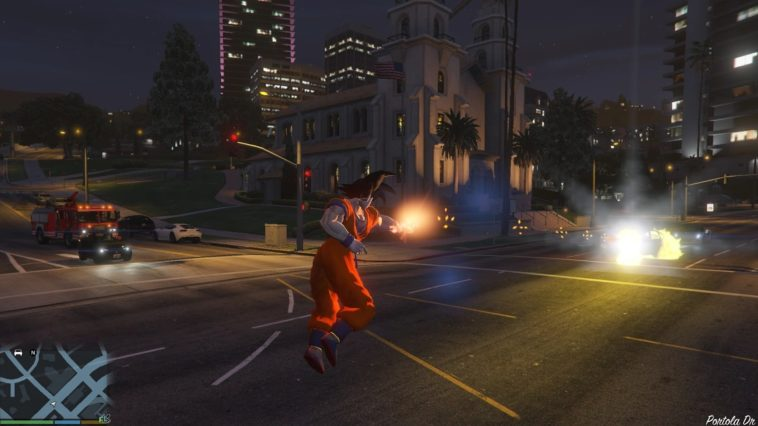Dragon Ball en GTA V: Un guerrero Saiyajin suelto en Los Santos