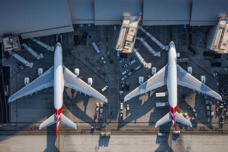 La bella simetría de los aeropuertos vista en fotografías aéreas