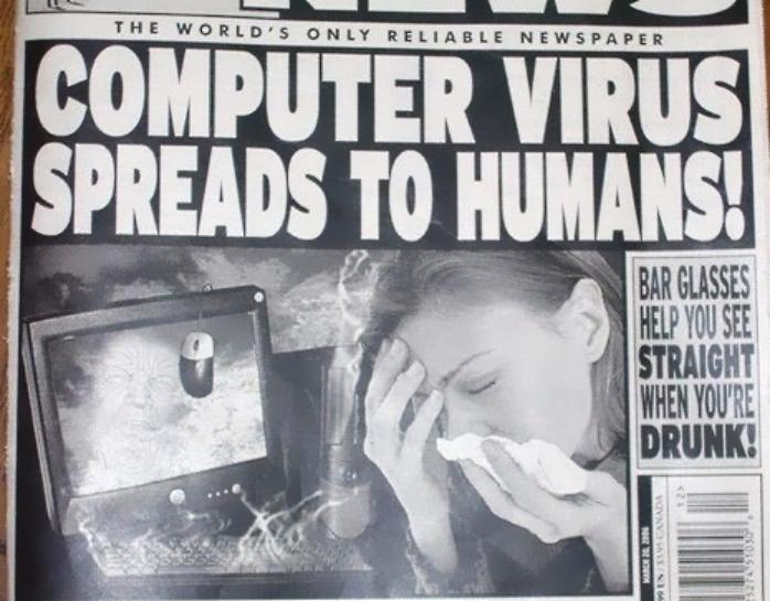 La vez que un humano se infectó con un virus informático