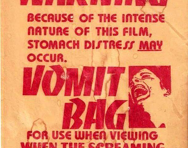 """El Arte de las Bolsas de Vómitos: """"Esta película es tan intensa que te hará devolver tu cena"""""""