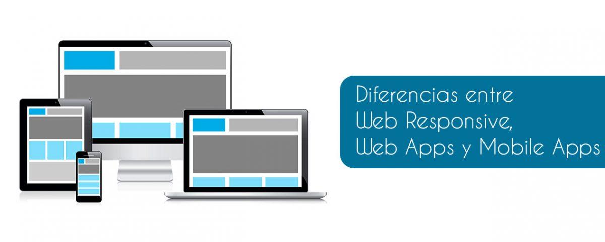 Diferencias entre Web Responsive, Web Mobile y Mobile Apps