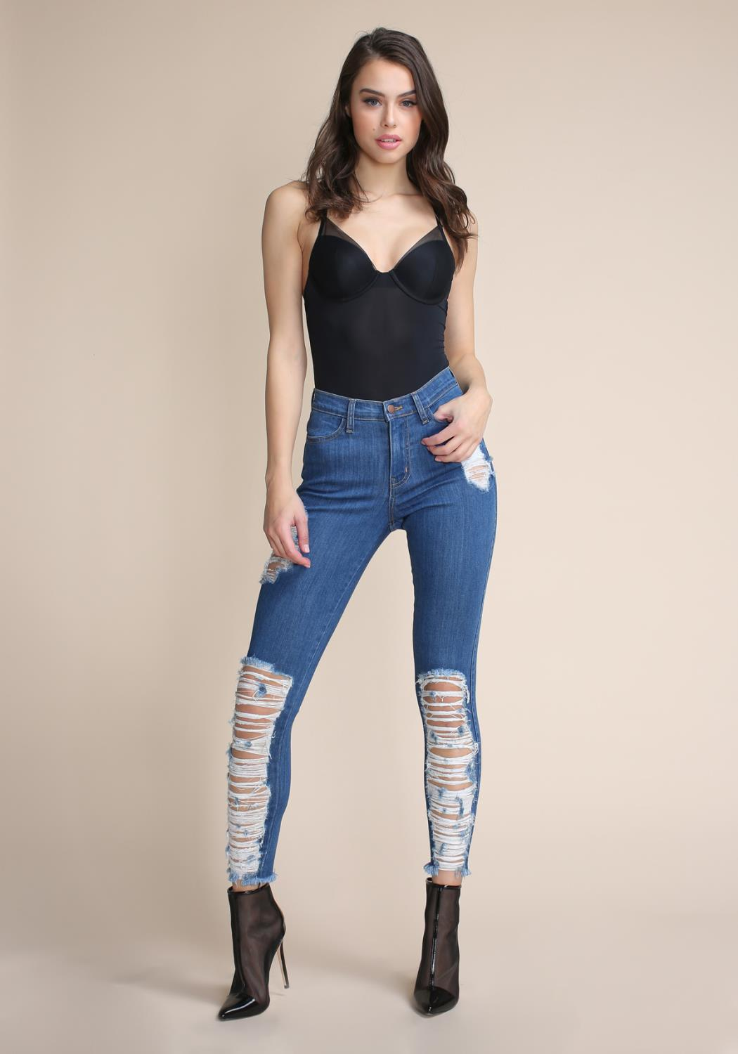 Ripped Up Skinny Jeans