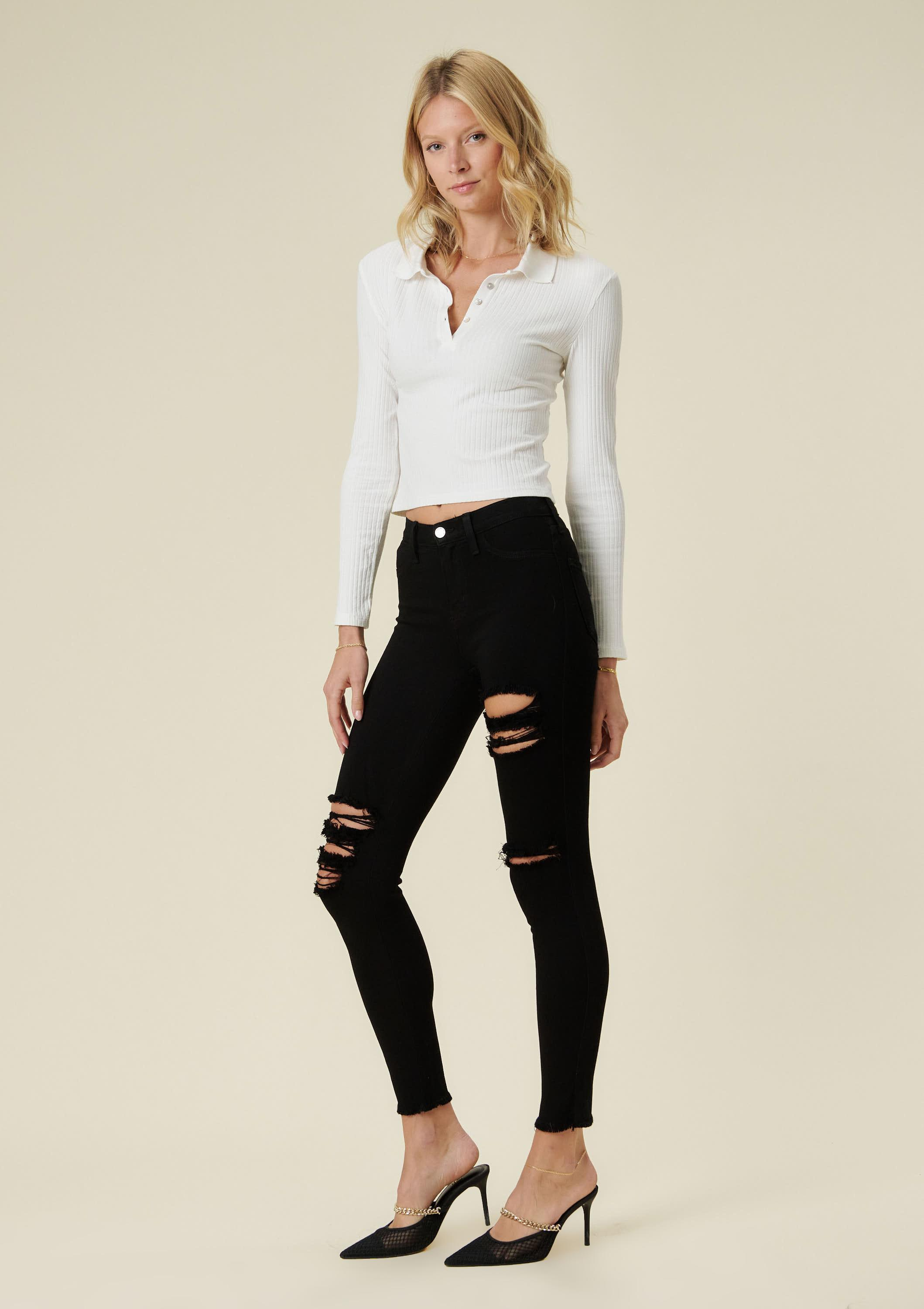 Sofia Ankle Distressed Jeans
