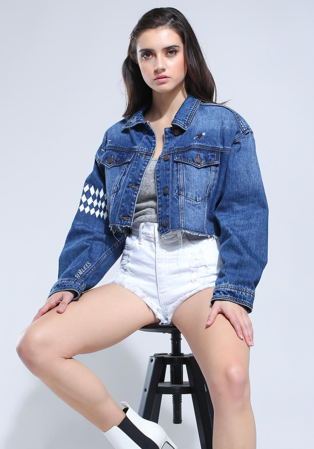 One & Only So Cropped Denim Jacket