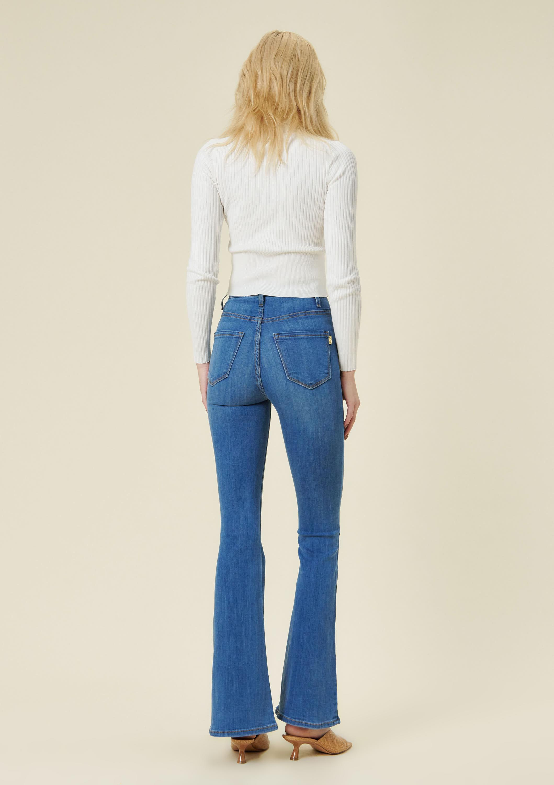 Nora Button Up Flare Jeans
