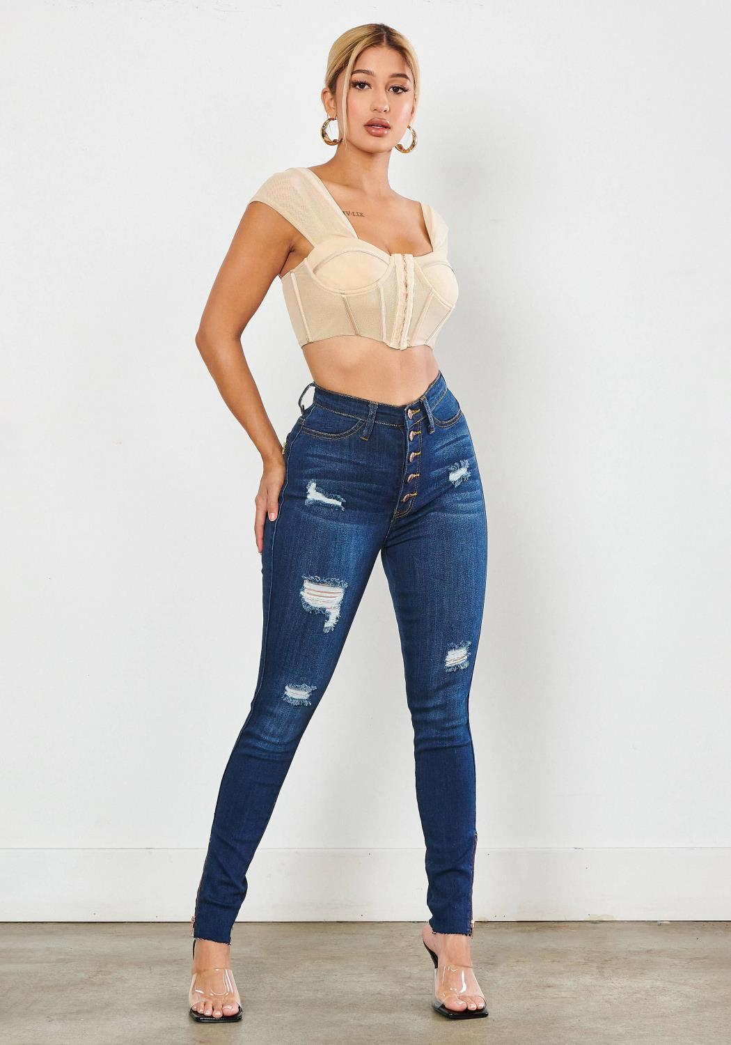 Lina Button Up Jeans