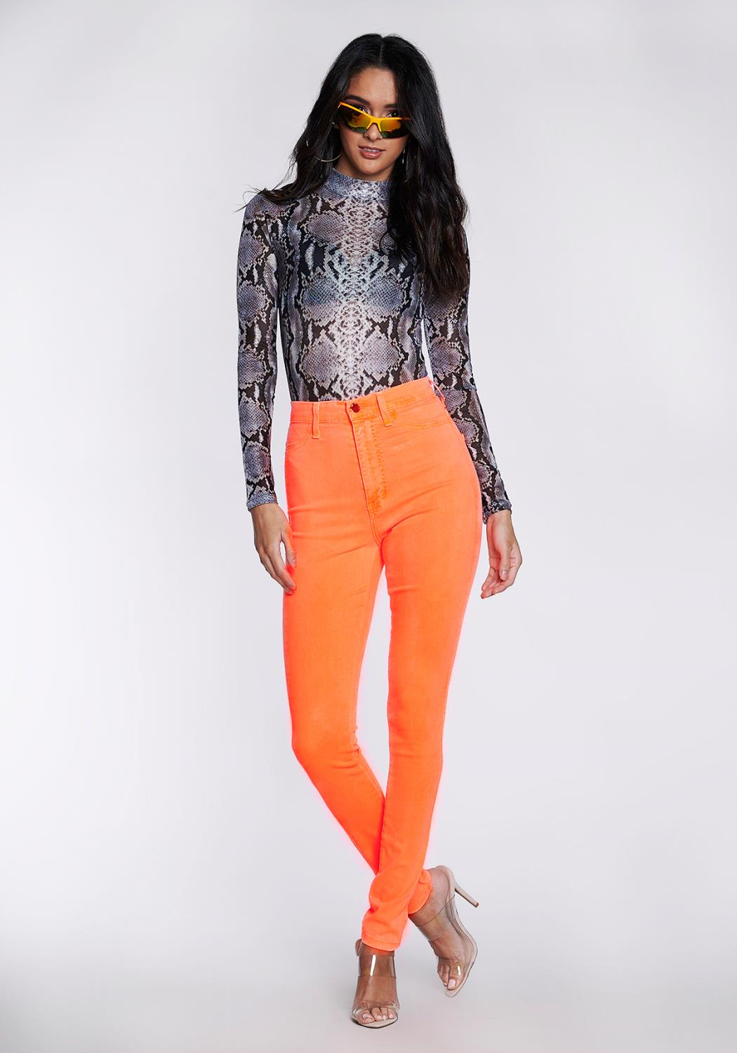 Neon Berry Skinny Jeans