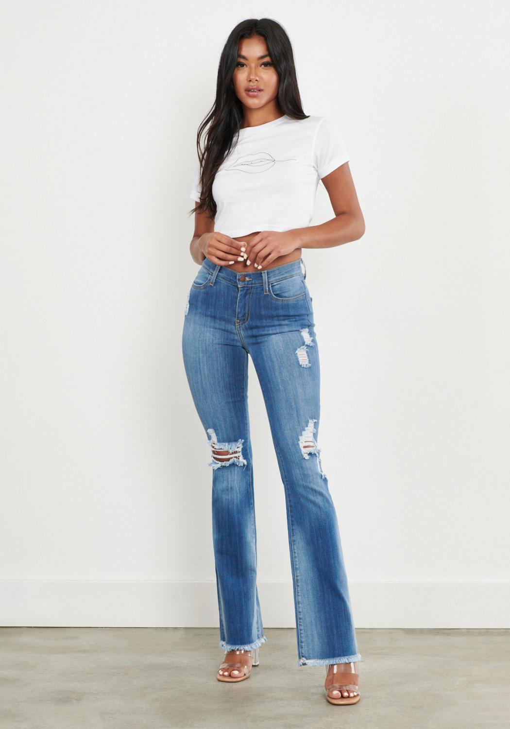 Fade Out Distressed Bootcut