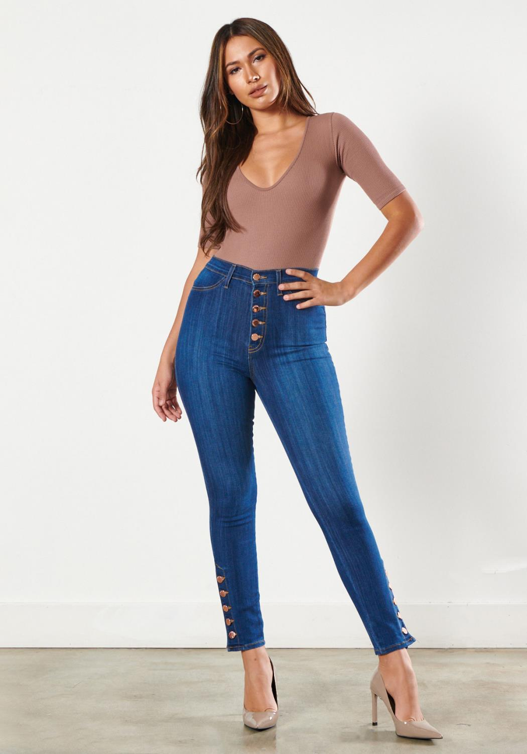 Rosie Button Up Skinny Jeans
