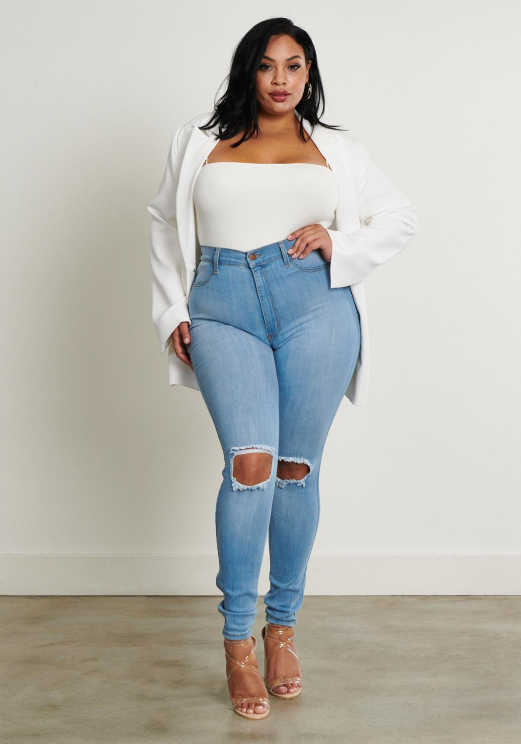 PLUS Crush High-Rise Skinny Jeans
