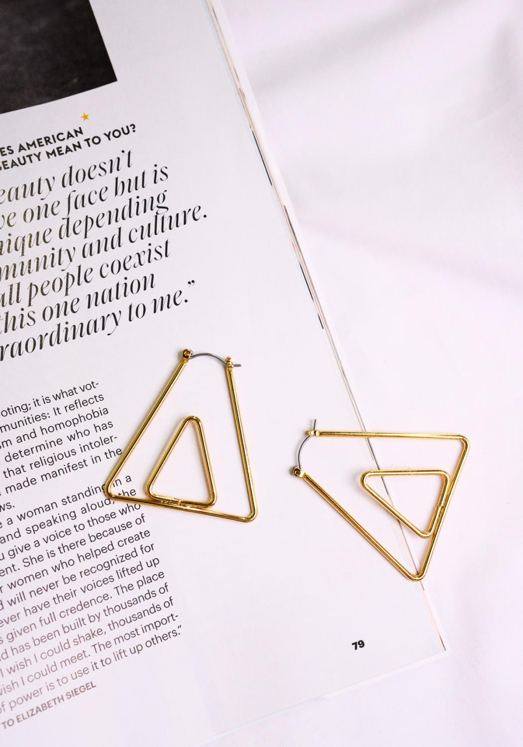 Desert Pyramid Earrings