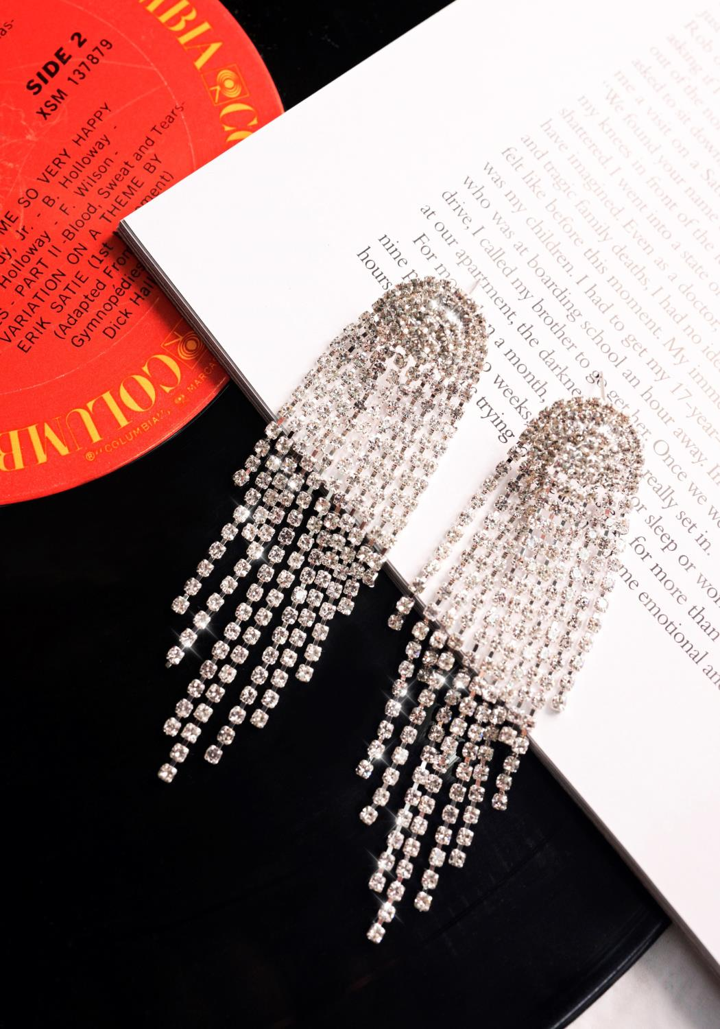 Rhinestone Statement Earrings
