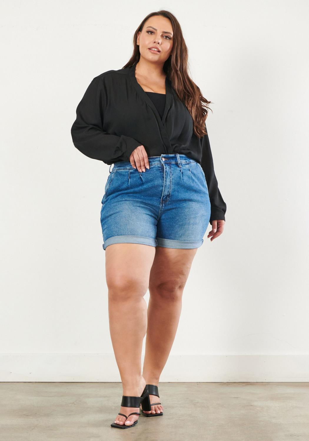 PLUS Carrie Mom Shorts