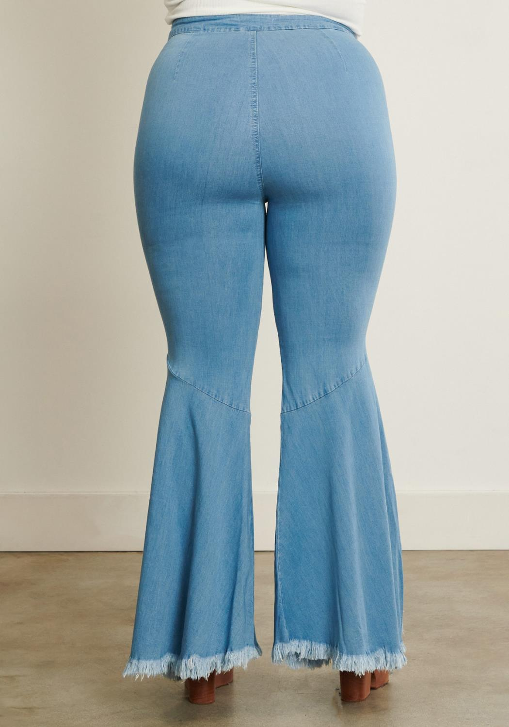 PLUS Split Flared Jeans