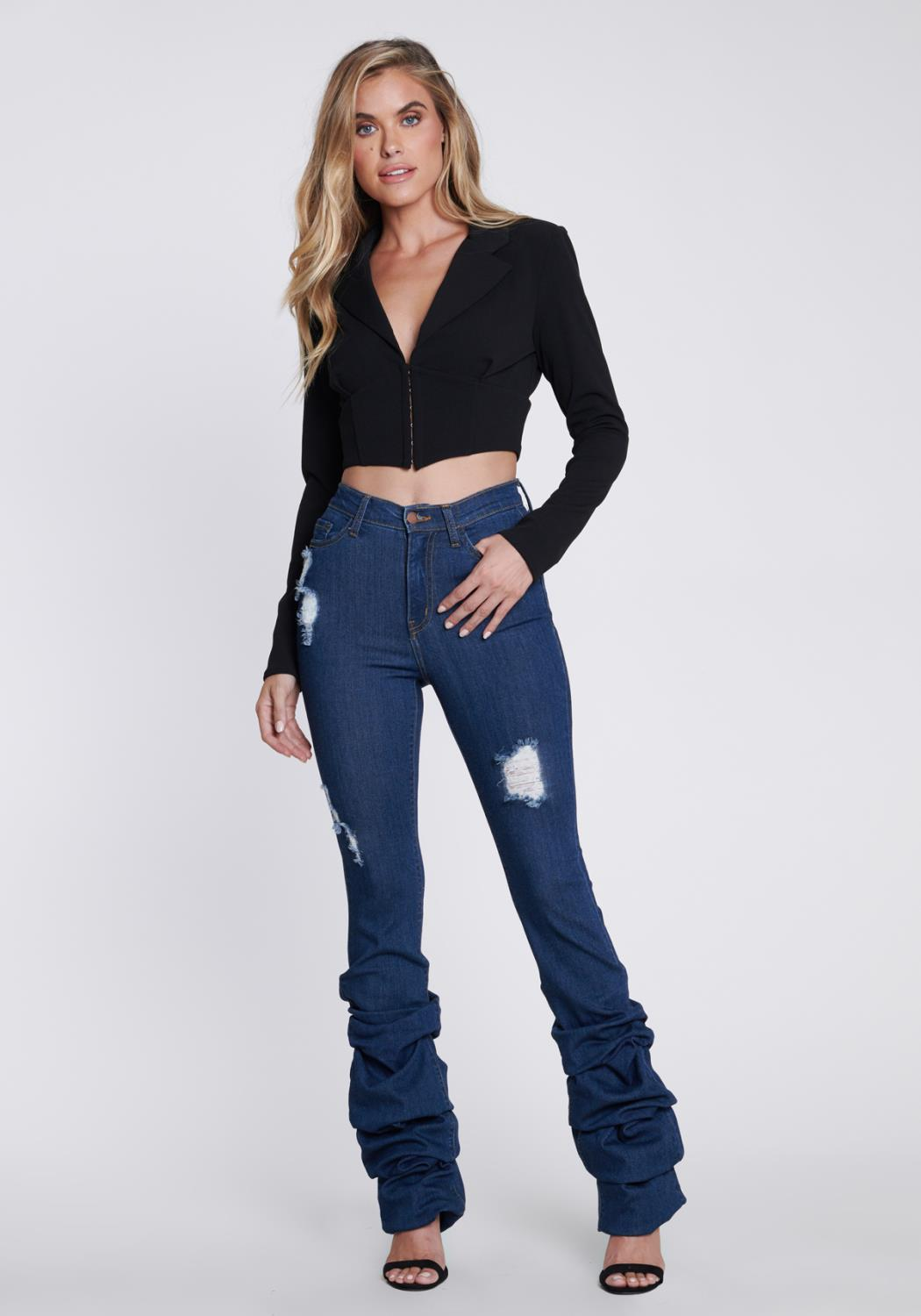 Distressed Scrunch It Up Jeans