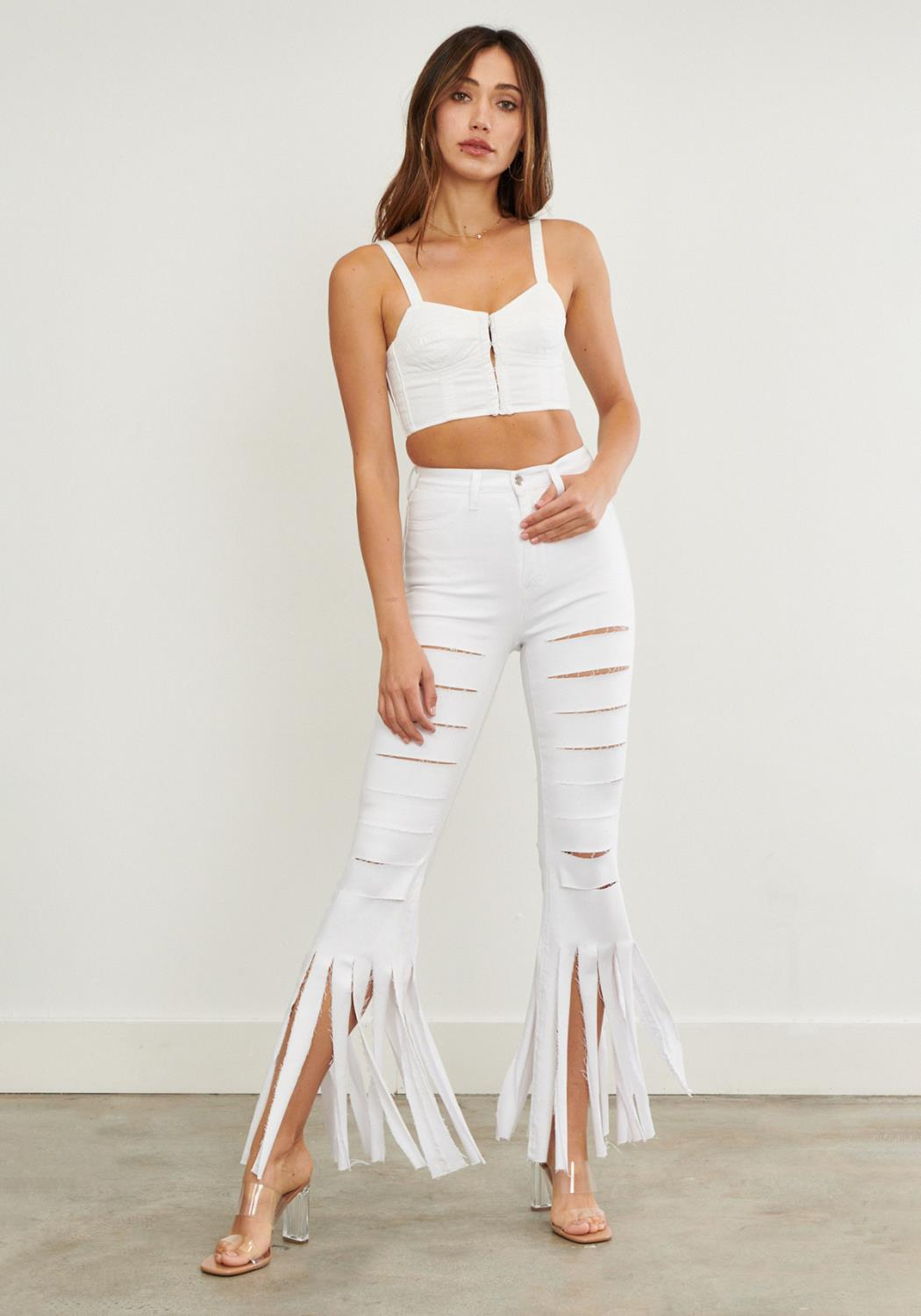 Rave Cutout Flare Jeans