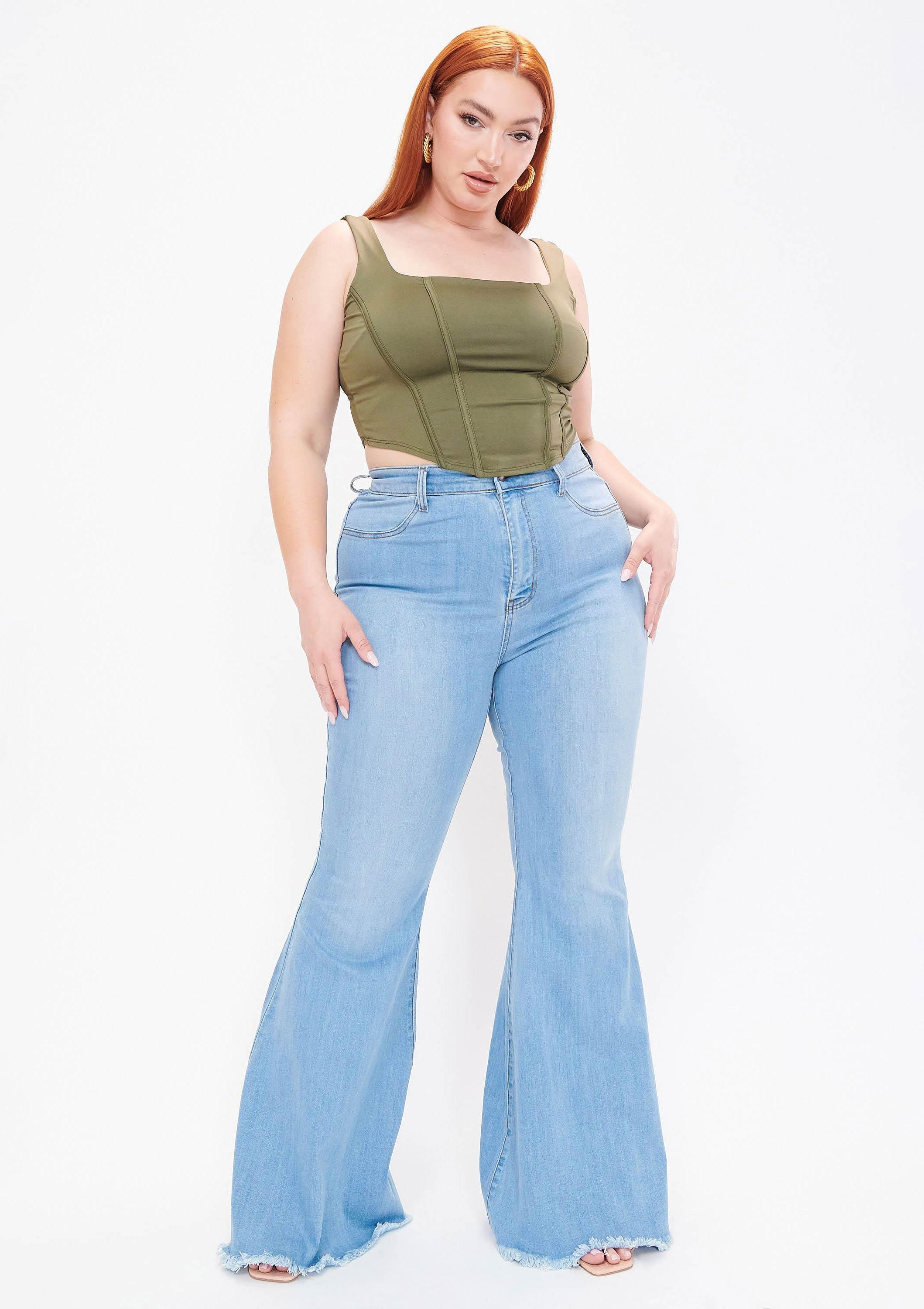 PLUS Sprung on You Flare Jeans