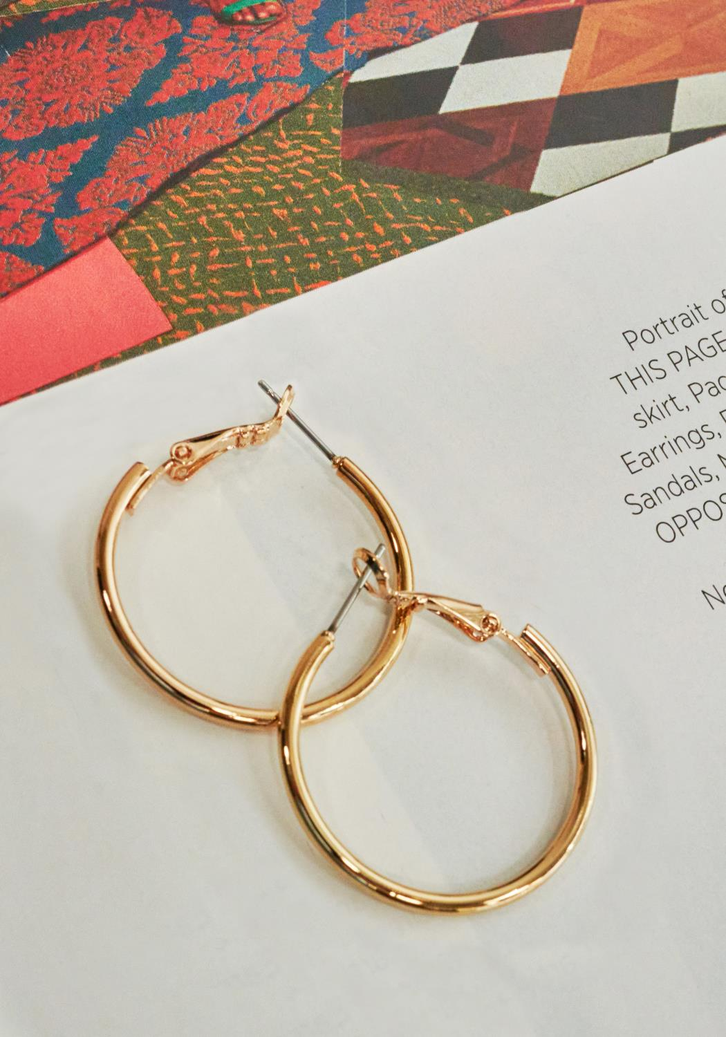 Medium Circle Hoop Earrings
