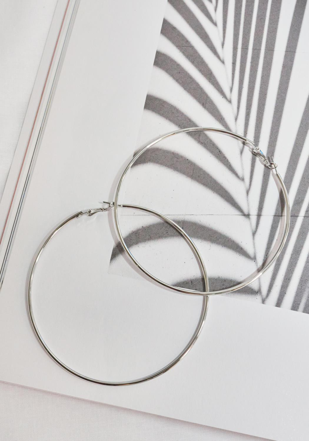 Silver Big Hoop Earrings