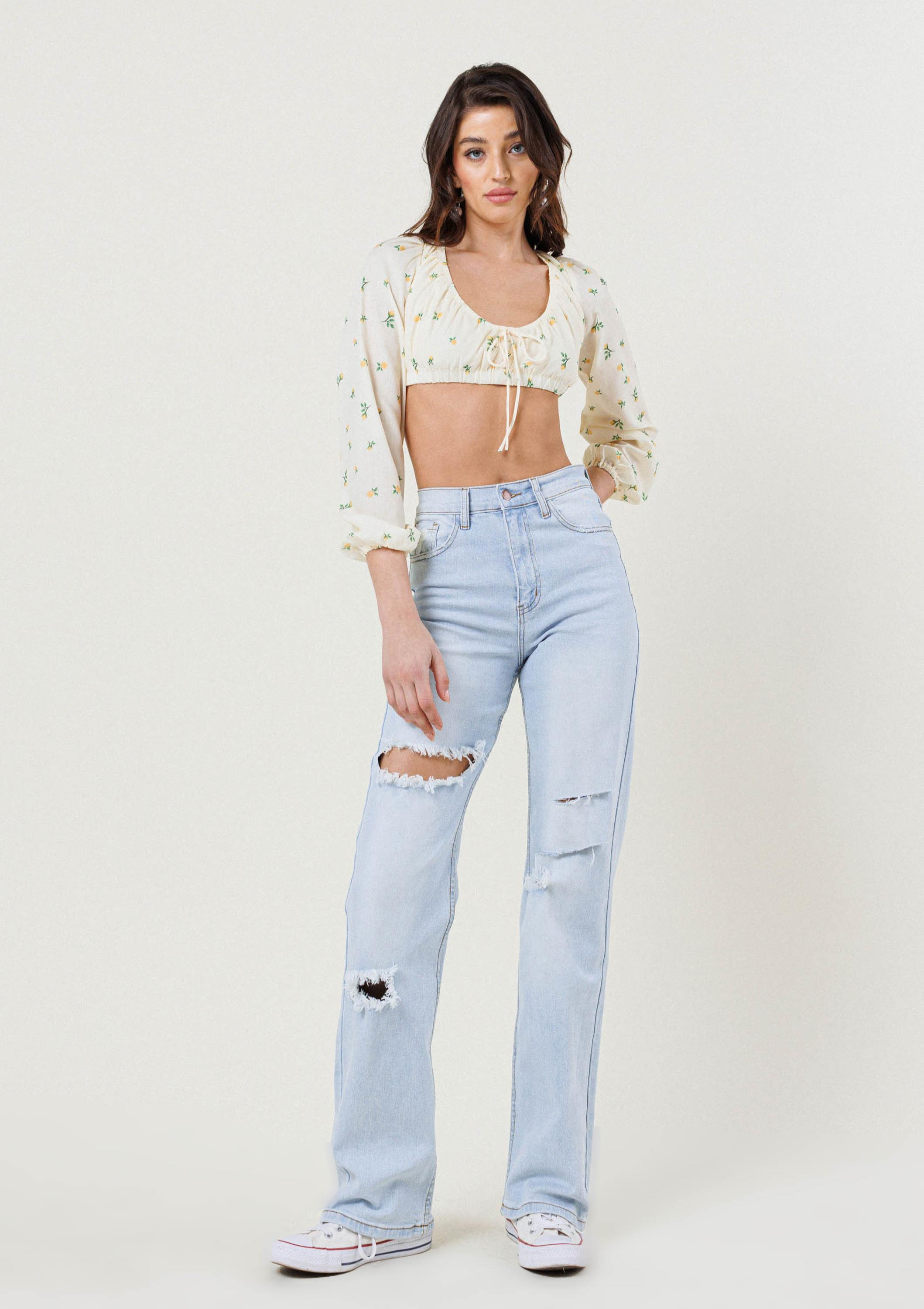 Livin the Dream Wide Jeans