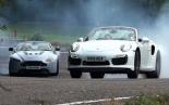 Drop-top duel - Porsche 911 Turbo S versus Aston Martin V12 Vantage S